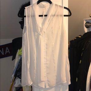 Nordstrom's white flowy blouse